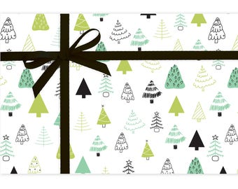 Trees - Gift Wrap - Holiday Wrapping Paper