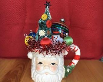 Vintage Santa Mug Assemblage