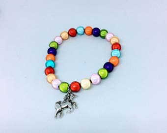 Rainbow miracle bead bracelet