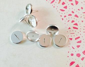 12mm Earring Bezel Trays - Breast Milk Jewelry Expansion Kit
