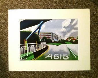 """Limited edition A3, A4 or 7x5"""" print - Park Hill Flats in Winter - Sheffield. Of an original painting by Bryan John"""