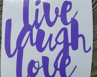Live, Love, Laugh Vinyl Decal