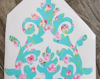 Vintage Floral Filigree Vinyl Decal