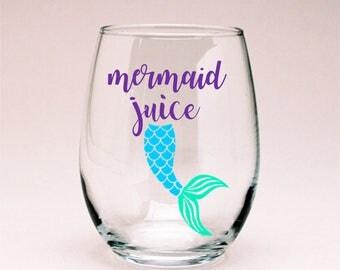Mermaid Juice Wine Glass