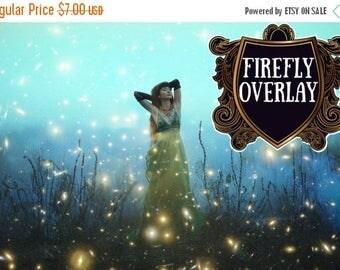 ON SALE 20 Forest Firefly overlays Fireflies Overlay fairy tale mystical lightning bug summer overlays  Photoshop Digital