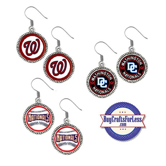WASHINGTON Baseball EARRINGS, CHooSE Design - Super CUTE!  +FReE SHiPPiNG & Discounts*