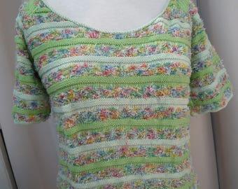 summer knit short raglan sleeves