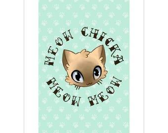 Meow Chicka Meow Meow A5 Art Print
