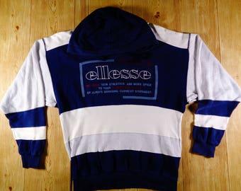 RARE! Vintage ELLESSE Italia Hoodie Sweatshirt Medium Size