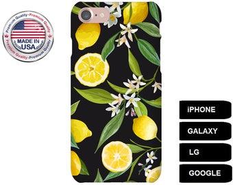 Lemon Phone Case, Phone Case Lemon, Lemon iPhone Case, Lemon Galaxy Case, Lemon Google Pixel, iPhone 6 Plus Case, iPhone 5 Case, iPhone SE