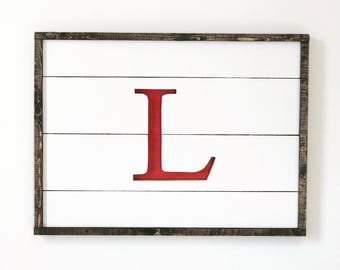 Monogrammed Cut Out Sign