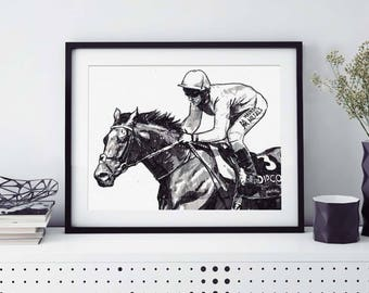 Framed - Custom Portrait - Pet - Hand drawn from photo, Hand Drawn Portrait , Dog Portrait, Horse Portrait, Pet Portrait