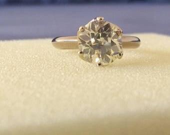 Old European cut diamond ring 2.8ct