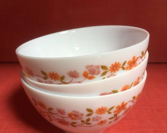 Vintage Arcopal French design cereal bowls