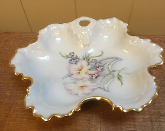 Limoges Porcelain Bon Bon Dish, French Home Decor