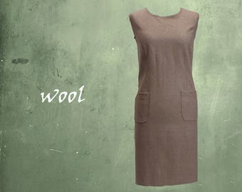 wool dress, sleeveless wool dress