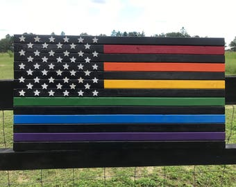 LGBTQ American Rainbow Flag -Equality Pride