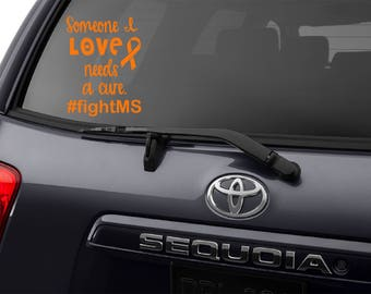 Multiple Sclerosis Decal, Multiple Sclerosis, MS Decal, Multiple Sclerosis Sticker, MS Awareness, Multiple Sclerosis Awareness, MS, Decal