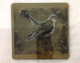 Single cuckoo drinks coaster