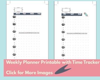 A5 Bullet Journal/Filofax Kalender druckbare täglichen Log w /