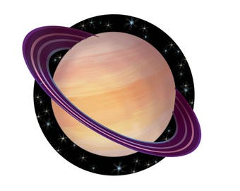 Large Saturn Sticker