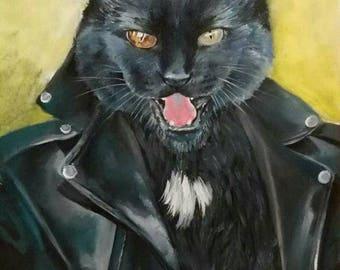 Custom Pet Portrait, Custom cat portrait, Custom pet painting, Commission cat portrait, Commission pet painting, commission cat painting