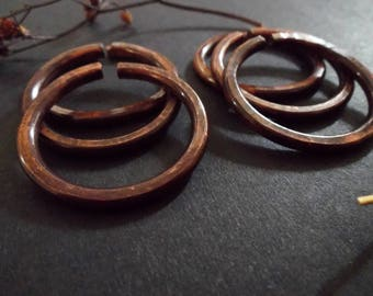 KUUSI : Set of Six Hand Crafted Copper Ear Weights//Ear Hoops
