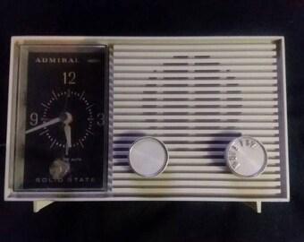 Vintage Admiral AM Clock radio
