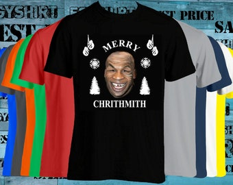 Merry chrithmith Mike Tyson Ugly t-shirt-Mike Tyson Shirt-Ho-Funny Shirt-Merry shirt-drake-ugly party