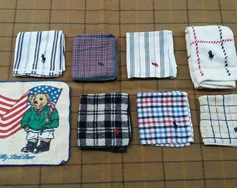 Combo vintage polo handkerchiefs