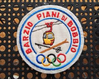Vintage Olympic Ski Patch Barzio Piani Di Bobbio