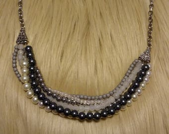 Multi stand beaded necklace