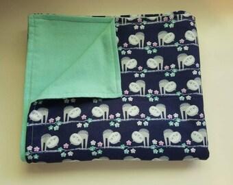 Baby/Toddler Blanket, Sloths, Flowers, Baby Shower Gift