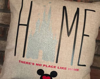 HOME Pillow Disney Themed/Castle Inspired-New-Custom 18x18
