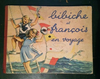 "Old, ""Bennett and Francis traveling"" book year 1948"