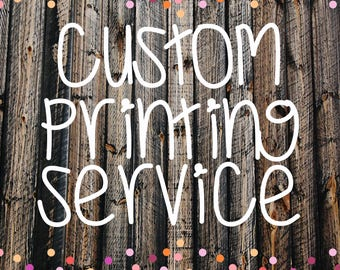 Custom Printing service for CUPCAKE TOPPERS