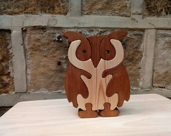 Wooden Owl Jigsaw Puzzle