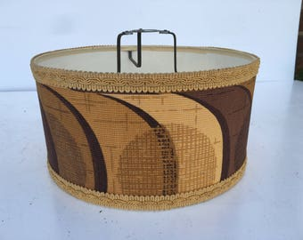 1960s vintage ceiling cylinder lampshade