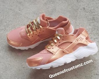 db2f8902cdcb ... Premium Custom Rose Gold Nike Huarache ...