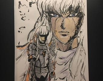Berserk anime / manga Griffith 8.5 x 11 gloss art print