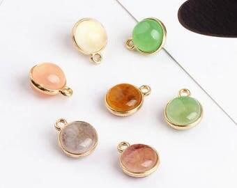 10PCS 14*17MM Crystal Charms Rhinestone Charm Stone Charm Diy Jewelry Accessories Craft Supplies