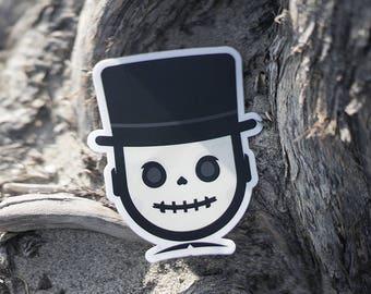The Skull, Skull Stickers Macbook Decal, Skull Sticker Skateboard, Skulls stickers, cool Skate stickers, sticker for skateboard Skull decal