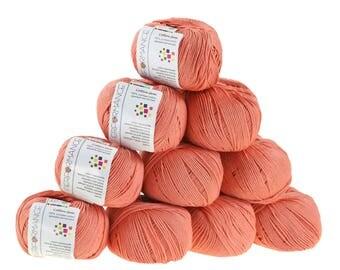 10 x 50g knitted yarn cotton gem #545 Orange