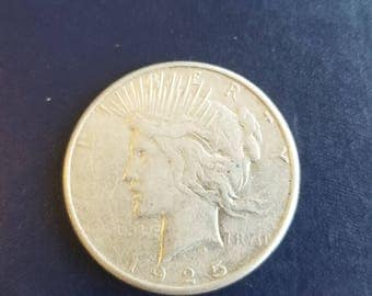 1925 S silver peace dollar!