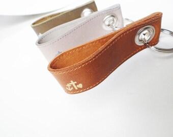 Leather Keychain Hope-faith-Love