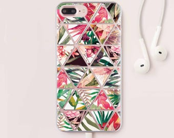 Flowers iPhone 7 Case Triangles Phone iPhone 6 Case For Samsung Galaxy S7 Floral Samsung S8 Plus Case iPhone 5S Case iPhone 7 Plus Case 074