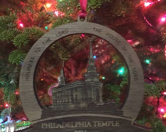 Philadelphia Temple Ornaments
