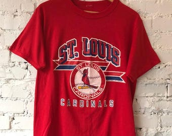 Vintage St.Louis t-shirt/St. Louis Cardinals/MLB/Baseball/1988/80s tee