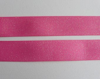 "Hot Pink Glitter Grosgrain Ribbon 7/8""/22mm wide x 1 meter    Base colour - 156"