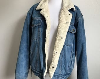 Vintage Denim Sherpa Jacket